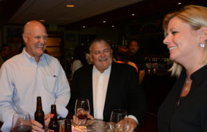 Pictured (LtoR) Bill Fisher, Fisher Design CEO; Jim Schultz, Hofmann Brands board chair; and Sarah Quackenbush, Planit director of client engagement