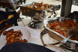 """Partygoers got to browse a buffet of all sorts of Hofmann sausages and """"dogs."""""""