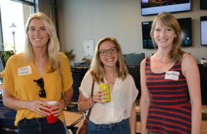 Pictured (LtoR) Phyllis Langley, Kinglet digital marketing manager; Lucie Camp, Baltimore Orioles graphic designer; and Megan McCarthy, Baltimore Museum of Art senior graphic designer