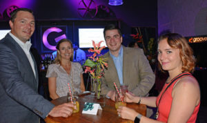 Pictured (LtoR) Craig Leonard, Groove digital sales executive; Brittany Doyle, Groove executive assistant; Porter Whitman, Groove sales consultant; and Mary Carballo, AFR Event Furnishings account executive