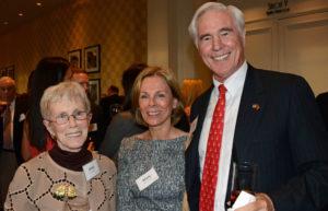 Pictured (LtoR) Anne Stone, retired assistant librarian/teacher; Mary Mullan, community volunteer; and Jack Luetkemeyer, board member/event co-host