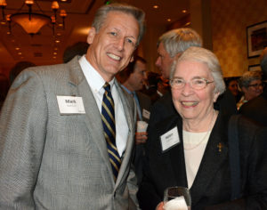 Pictured (LtoR) Murk Furst, United Way of Central Maryland president/CEO; and Sr. Helen Amos, Mercy Medical Center board chair