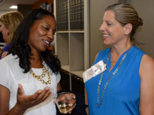 Pictured (LtoR) Kera Ritter, Big Brothers Big Sisters of ther Greater Chesapeake CEO; and Tracy Gosson, event co-host