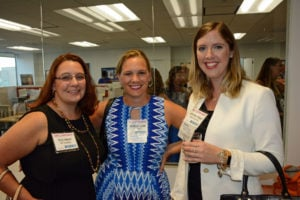 Pictured (LtoR) Kristin Halford, Harford County Public Library Foundation director; MaryBeth Hyland, SparkVision chief visionary; and Katherine Pinkard, event co-host