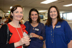 Pictured (LtoR) Michele McDonald, Office of Maryland Attorney General courts and judicial affairs chief of counsel; Heather McBain, The Daily Record inside sales advertising coordinator; and Heather Cobun, The Daily Record reporter