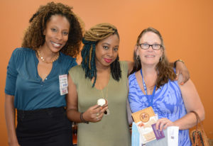 Pictured (LtoR) April Richardson, DC Sweet Potato Cake president/owner; Deborah Wilson, DC Sweet Potato Cake operations manager; and Kim Wright, event co-host
