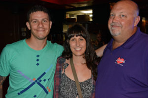 Pictured (LtoR) Kenny Liner, Believe in Music Program executive director; Jessica Liner, Baltimore city massage therapist; and Dave Rather, Mother's president