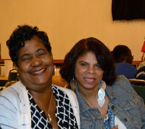Pictured (LtoR) Angela Costely, Baltimore City housing department communications specialist; and Lorraine Cannon, Baltimore City contract administrator