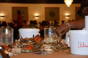 ...and the guests of honor at every table? The crabs, of course.
