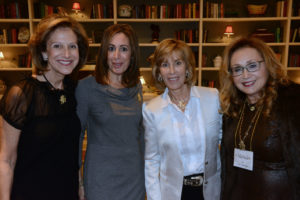Pictured (LtoR) Clara Klein, event co-chair; Allison Magat, event co-chair; Nancy Spielberg, filmmaker/event guest speaker; and Michele Lax, The Associated Women president